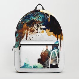 Dallas Texas watercolor print skyline Backpack
