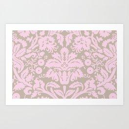French chic pink Art Print