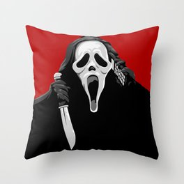 Whats Your Favourite Scary Movie Throw Pillow