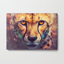 Leopard art #leopard #cats #animals Metal Print