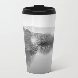 Lakescape in bw Travel Mug