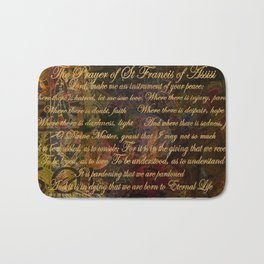 The Prayer of St Francis of Assisi Bath Mat