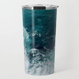 Ocean Waves (Teal) Travel Mug