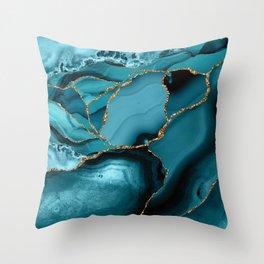 Iceberg Marble Throw Pillow