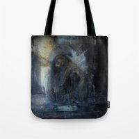 compass Tote Bags featuring compass by Imagery by dianna