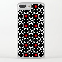 optical pattern 31 Clear iPhone Case