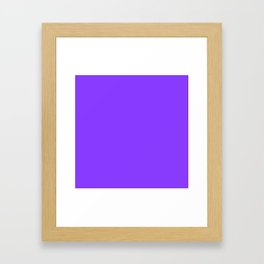 Simple Solid Color Aztech Purple All Over Print Framed Art Print