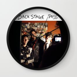 Birds in the Boneyard, Print 17: Backstage Pass Wall Clock