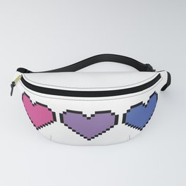Bisexual Pixel Heart Fanny Pack
