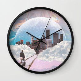 CITY OF PASTEL DREAMS II Wall Clock