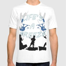 Life's A Breeze For Kitesurfers White Mens Fitted Tee MEDIUM