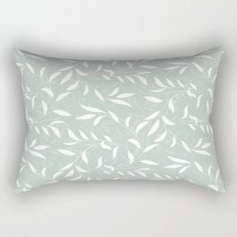 Soft Green Willow Branches Rectangular Pillow