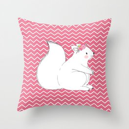Woodland Squirrel Throw Pillow
