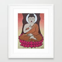 buddha Framed Art Prints featuring Buddha     by Marjolein