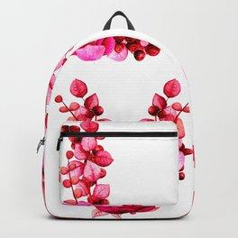 Valentine L-O-V-E in Red Flowers Backpack