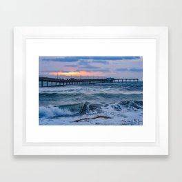 Ocean Beach Pier ~ May 2015 Framed Art Print
