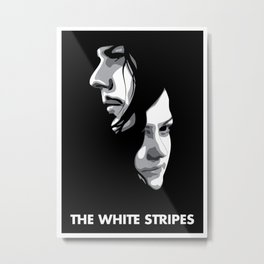 White Stripes Metal Print