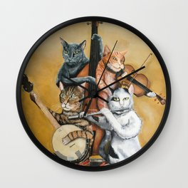Cat Quartet Wall Clock