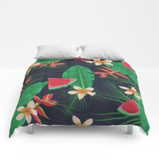 Tropical Watermelon Comforters