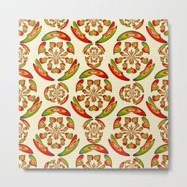 Portuguese flag pattern Metal Print