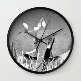 Night elefant Wall Clock