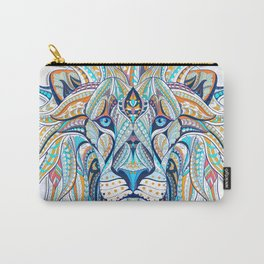 Blue Ethnic Lion Carry-All Pouch