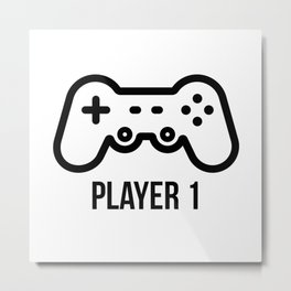 Player 1 Metal Print