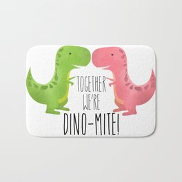 Together We're Dino-mite! Bath Mat