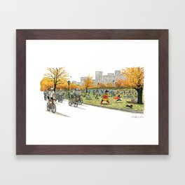 NANA in Central Park Framed Art Print
