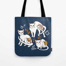 Oh, no! Your cat got a tattoo (blue) Tote Bag