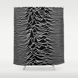 Joy Division - Unknown Pleasures Shower Curtain
