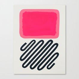Candy Floss Bubble Gum Canvas Print