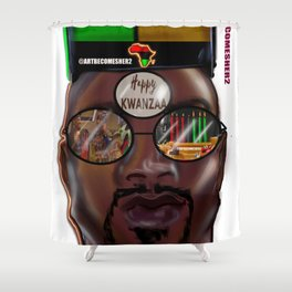 Kwanzaa King Shower Curtain