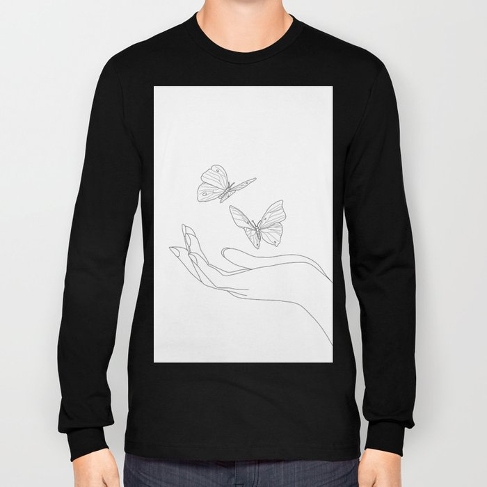 Butterflies on the Palm of the Hand Long Sleeve T-shirt