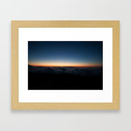 Above the clouds, what's to be found? Framed Art Print