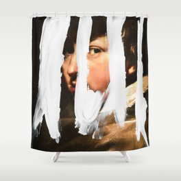 Untitled (Finger Paint 2) Shower Curtain