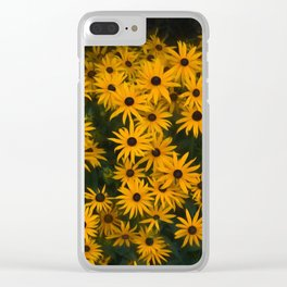 Brown eyed Susans Clear iPhone Case