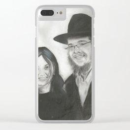 Rebbetzin Rivka and Gavriel Holtzberg Clear iPhone Case