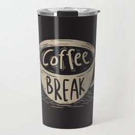 Coffee Break Painting Artwork Travel Mug
