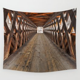 Jack O'Lantern Covered Bridge Wall Tapestry