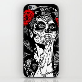 Girl With Sugar Skull, Day of the Dead iPhone Skin