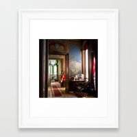 oriental Framed Art Prints featuring Oriental by Label Indigo
