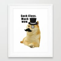 doge Framed Art Prints featuring Classy Doge by Tayler Smith