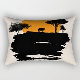 Bear Travel on Mountain #illustration #draw Rectangular Pillow