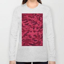 Foliage Abstract Pop Art Blush Red Long Sleeve T-shirt