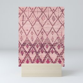 Oriental Moroccan Berber Rug Design B10 Mini Art Print