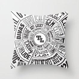 TenderLoin San Francisco Type Wheel Throw Pillow