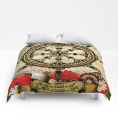 A Ship In Harbor Comforters
