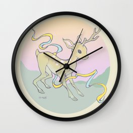 Unifawn (color) Wall Clock