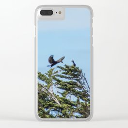 Little Black Shags Clear iPhone Case